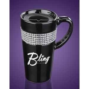 14 Oz. Ceramic Bling Traveler Mug