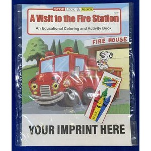 A Visit to the Fire Station Coloring Book Fun Pack