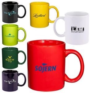 11 Oz. Basic C Handle Ceramic Mug - Colors