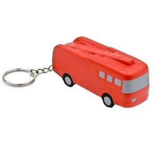 Fire Truck Key Chain Stress Reliever Squeeze Toy